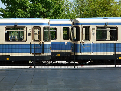 7173 and 6135, Frottmaning, Munich Type-A U-Bahn, Friday, 06/05/11