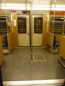 Door area of Munich Type-A U-Bahn, Wednesday, 04/05/11