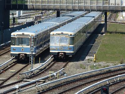7135 and 7151, Frottmaning, Munich Type-A U-Bahn, Friday, 06/05/11