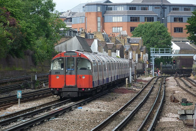 A Piccadilly Line train departs Baron's Court. Sunday, 10/06/12