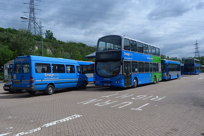 An Ensignbus collection with the former-WH 1. Lakeside, Saturday, 09/06/12