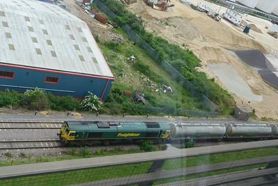 66 603 in the Lafarge siding below the Queen Elizabeth II bridge. Saturday, 09/06/12