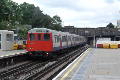 A Stock 5062 departs Harrow on the Hill.Friday, 08/06/12