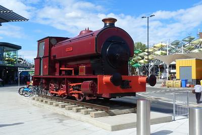 Steam locomotive 'Robert' outside Stratford. Saturday, 09/06/12