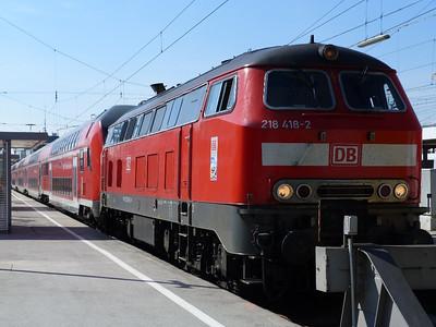 218 418 Munich Hbf, Friday, 06/05/11