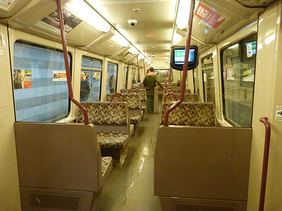 Interior of the Hamburg U-Bahn train. Thursday, 13/09/12