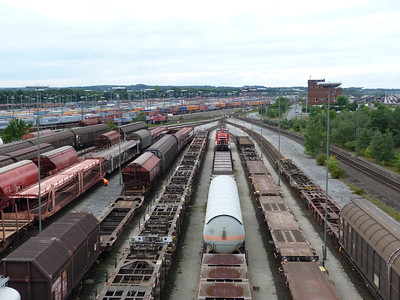 Overview of the extensive facility at Maschen Yard, Thursday, 13/09/12