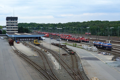 A large collection of locomotives at Maschen Yard, Thursday, 13/09/12