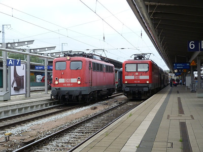 115 205 & 112 118, Rostock Hbf, Friday 14/09/12