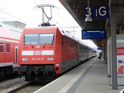 101 124, Rostock Hbf, Friday 14/09/12