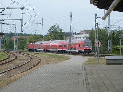 S-Bahn train departing Rostock Hbf, Friday 14/09/12