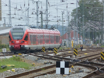 The RE9 departs Rostock Hbf, Friday 14/09/12