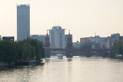 A U-Bahn train crosses the River Spree in Berlin, Sunday, 16/09/12