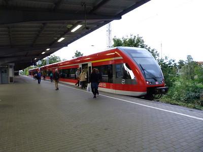 DB Regio DMU at Henningsdorf. Saturday 15/09/12