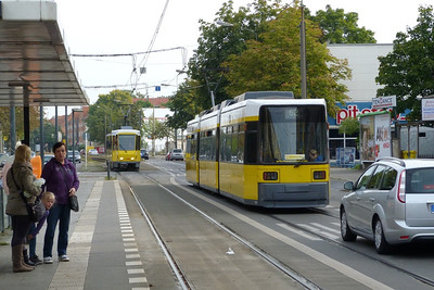 Trams at Karlshorst, Sunday, 16/09/12