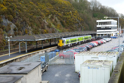 2709 is seen in the bay platform at Waterford. Wednesday, 22/02/12