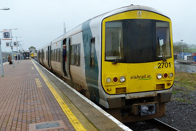 2701 after arriving into Limerick Junction with the 12:55 service from Limerick. Wednesday, 22/02/12