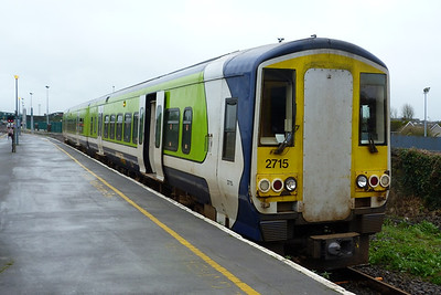 2715 is seen with an unpainted plate used to cover the former cab gangway connection. Limerick, Wednesday, 22/02/12