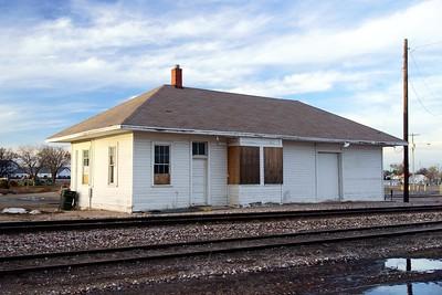CB&Q depot in Holyoke, CO.