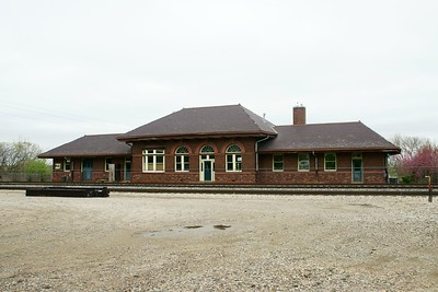 CB&Q depot in Red Oak, IA now serving as a museum.