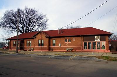 CB&Q depot in Shenandoah, IA.