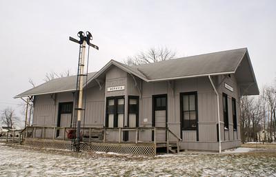 Norfolk & Western (Wabash) depot in Moravia, IA.