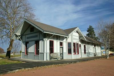 Norfolk & Western (Wabash) depot in Shenandoah, IA.