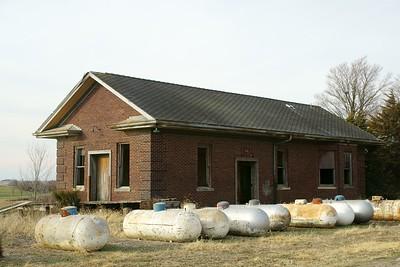 Former CB&Q depot in Greenfield, IA.