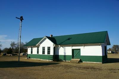 Union Pacific depot in Kanopolis, KS.