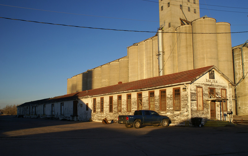 Former Santa Fe depot in Salina, KS.  It is now used by the K&O Railroad.