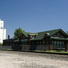 Nicely restored Santa Fe depot in Halstead, KS.