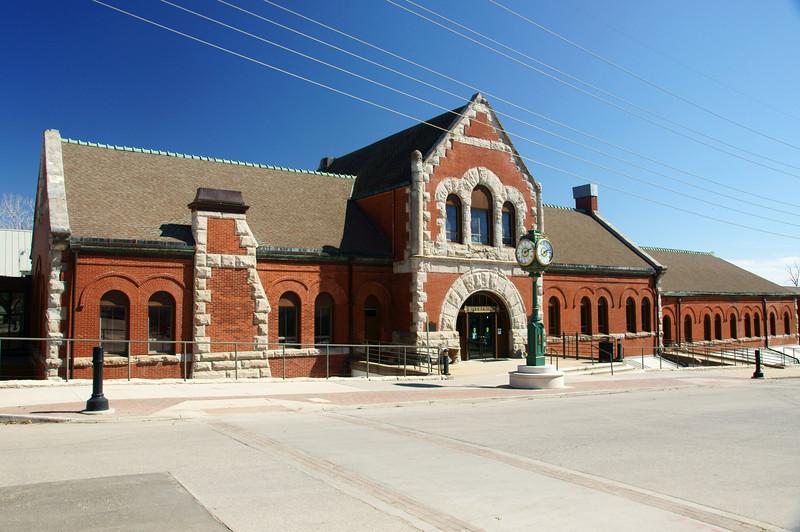 Missouri Pacific depot in Leavenworth, KS