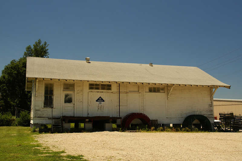 The MoPac depot in Piqua, KS demoted to a storage building.