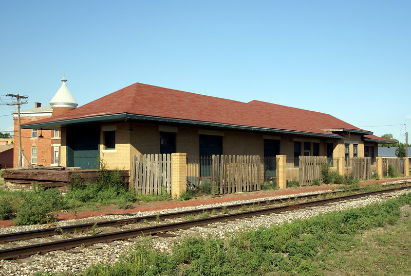 Former ATSF depot in Sterling, KS.  Now a law firm office.