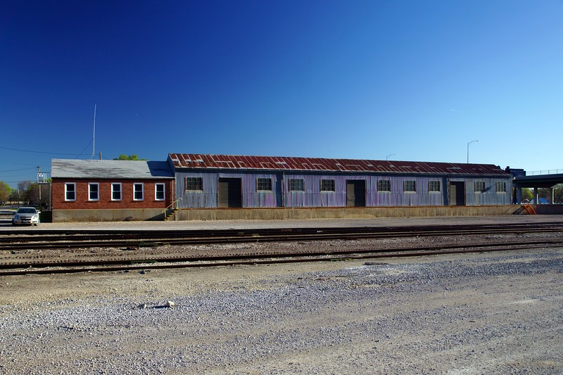 Missouri Pacific freight depot in Concordia, KS.  Now used by the Kyle Railroad.