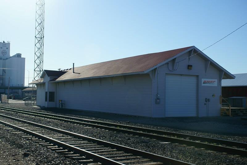 Santa Fe depot now used by BNSF in Concordia, KS.