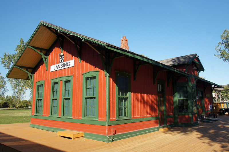 The Lansing, KS AT&SF depot now serves as a museum.