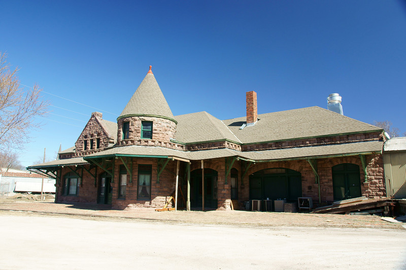 ATSF station in Leavenworth, KS.  Now a restaurant.