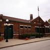 Garnett, KS ATSF depot.  This depot is an atypical design of the Santa Fe's brick depots.