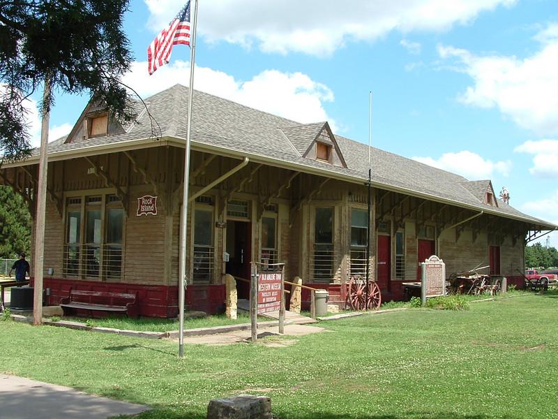 Rock Island depot in Abilene, KS.