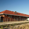 Non traditional Santa Fe depot design in Ellinwood, KS.