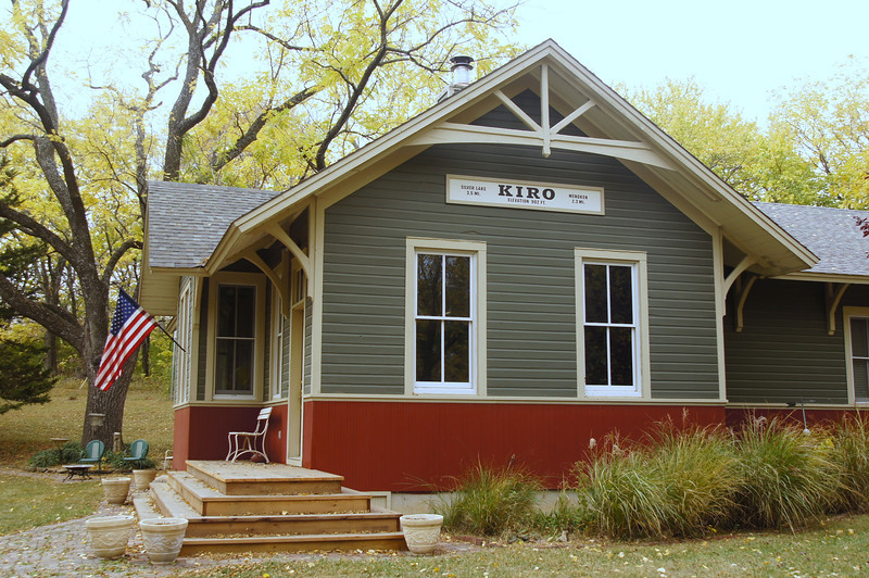 Kiro, KS Rock Island depot now used as a residence