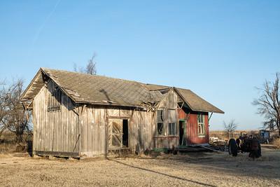 Missouri Pacific depot from Radium, KS.  Now located in Garfield, KS.