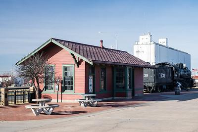 Sitka, KS AT&SF depot now locate din Dodge City, KS.