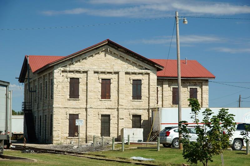 Early Santa Fe building in Topeka, KS.