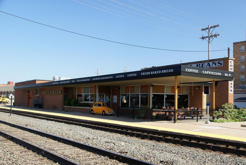 Modern era passenger depot in Hutchison, KS built by the Santa Fe.