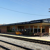 Modern era passenger depot in Hutchison, KS built by the Santa Fe.