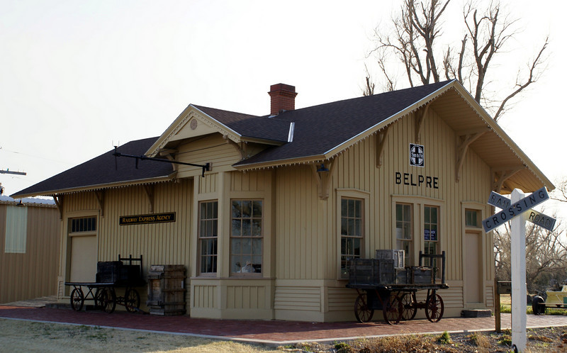 Belpre, KS ATSF depot.  This depot is located on the museum grounds in Great Bend, KS.