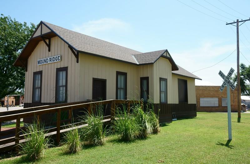 Restored Missouri Pacific depot in Moundridge, KS.