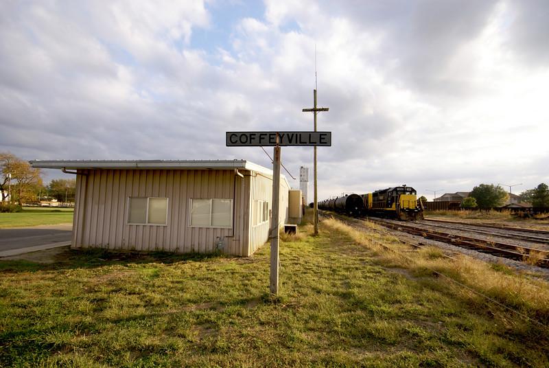 Former Santa Fe depot in Coffeyville, KS.